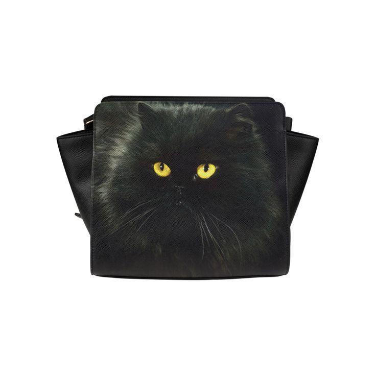 Black Cat Satchel Bag (Model 1635)