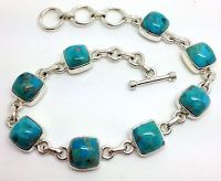 Mohave Turquoise bracelet, Solid Sterling Silver, new. Actual one. Gift Box.