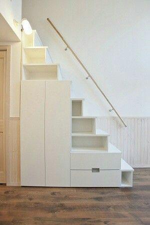 階段収納lofty サイズ:W1660×H2300×D580 20万円 メラミン製 4色