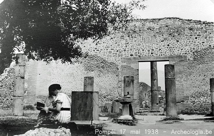 Pompéi le 17 mai 1938 - Photos inédites | Archeologia.be - 21 octobre 2014