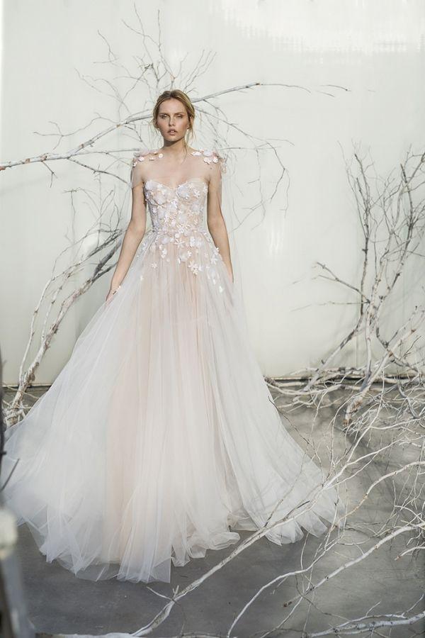 Elsa Ethereal Floral A Line Wedding Dress