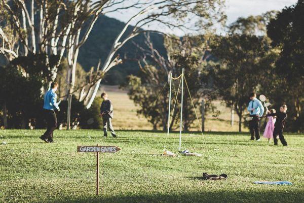 Vintage wedding games. Photographer: Jeremy Beasley. Australian Cattle Station Wedding   The Bride's Tree - Sunshine Coast Wedding