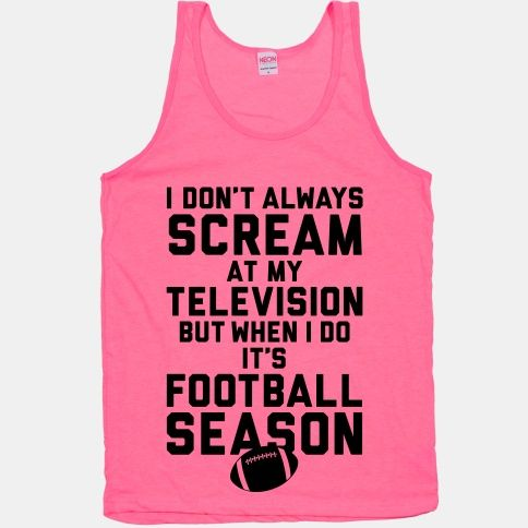 I don't always SCREAM at my TELEVISION but when I do it's FOOTBALL SEASON.   Make that PACKERS SEASON.  :)