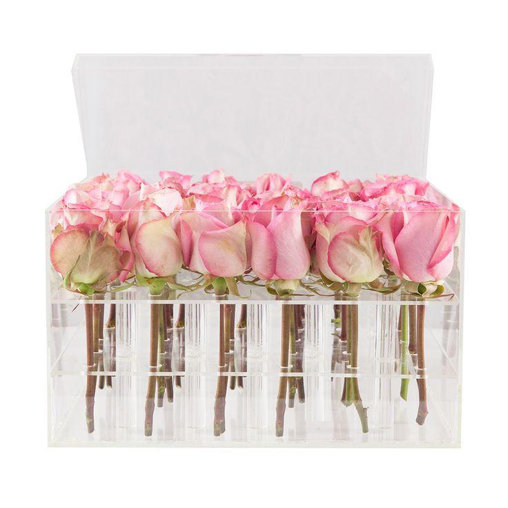 2016 New Design Customized Acrylic Box Acrylic Flower Box