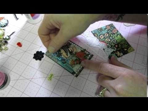 ATC Cards Tutorial (Collage style) ☆ Handicraft Ideas