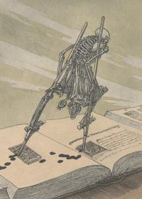 A Modern Dance of Death, c. 1894 by Joseph Sattler (1867–1931) (Illustrations for an edition of E.A. Poe)
