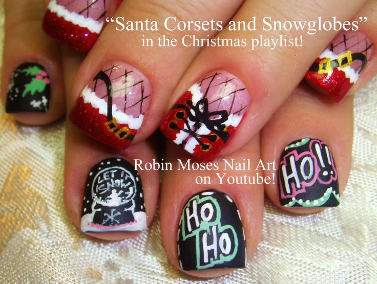 180.0+ best Christmas Nail Art Gallery with Full Tutorials! images ...