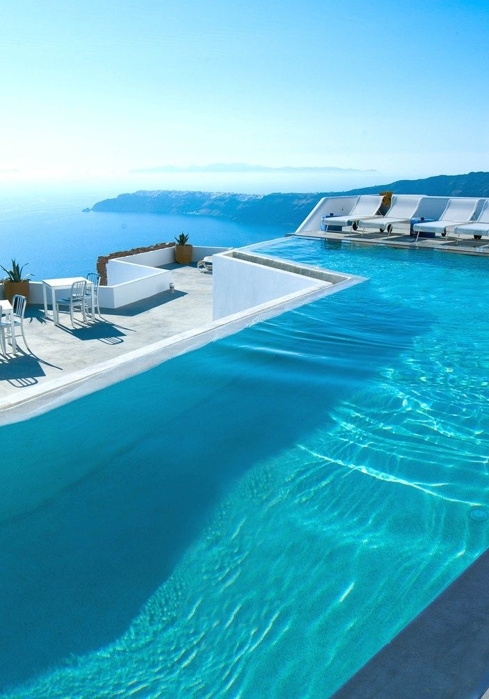 The 21-room Grace Santorini, originally built in 2008, has undergone a head-to-toe renovation. Here, the infinity pool.