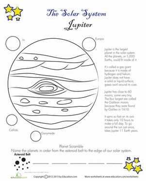 earth space science worksheets - photo #24