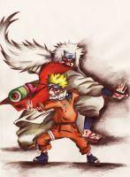 Jiraiya and Naruto by martystka