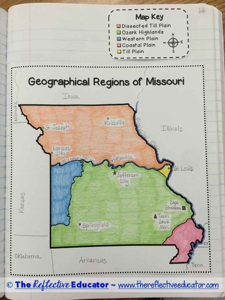 Regions of Missouri is a Social Studies lesson designed to help students understand the five geographical regions of Missouri. Students read an original, content-rich informational text. Using information in the text and online sources, students create a foldable, design a map, and answer a constructed-response prompt. Answer keys and a scoring guide are included.