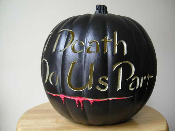 You can have pumpkins double as macabre decor.