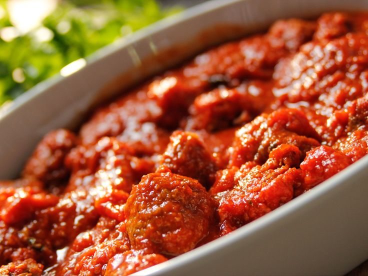 Cooking For Jeffrey Series of New Shows on Food Network Roasted Italian Meatballs recipe from Ina Garten via Food Network