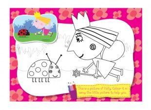 Print off this Holly & Gaston colouring in picture from Ben & Holly's Little Kingdom, and let your child have fun colouring it in.