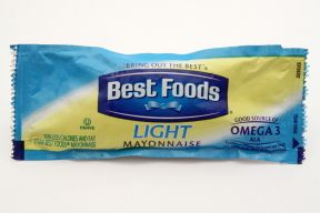 Best Foods Light Mayonnaise-12 grams of light mayonnaise packet. 60% less calories. #food #TravelSize