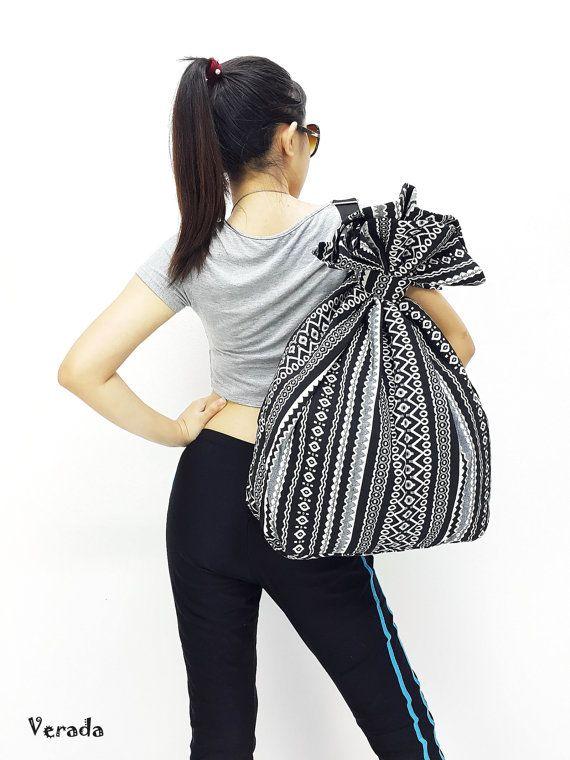 Woven Cotton Bag Single Strap Backpack Hippie #bagsandpurses @EtsyMktgTool http://etsy.me/2yhCVlT