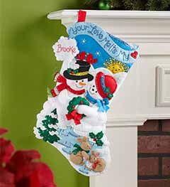 Bucilla ® Seasonal - Felt - Stocking Kits - Your Love Melts My Heart