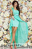 Вечернее платье в греческом стиле Ольвия ментол 4739