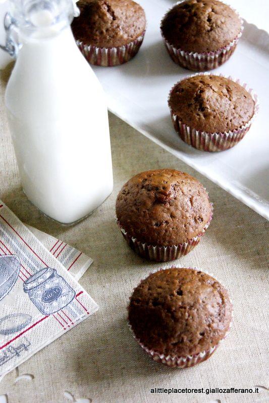 muffin al cioccolato fondente senza burro - no butter chocolate muffins