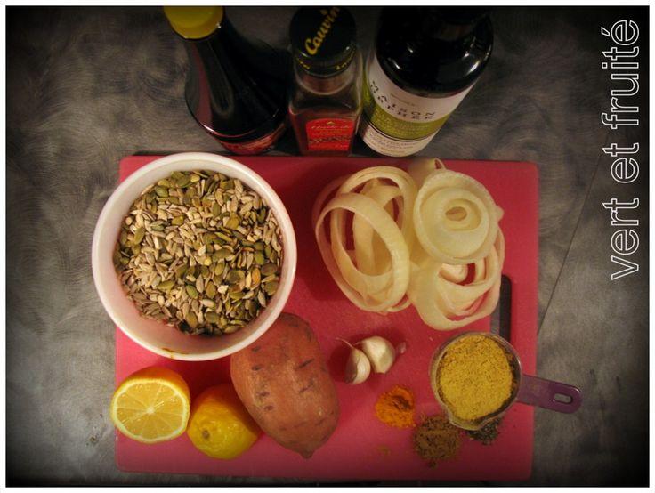 Végé-pâté aux graines de tournesol et de citrouille - vert et fruité