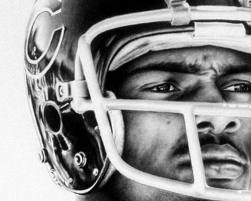 Walter Payton: Bears Fans, Artworks, Walter Payton, Black And White, Chicago Bears, Sports Stuff, Payton Sweet, Payton Columbia, Da Bears