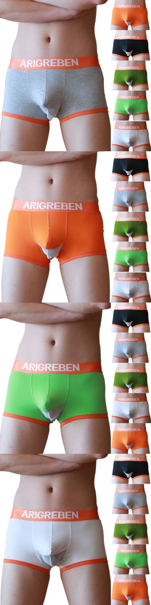 Man Boxers: Trunks Soft Underwear Mens Boxer Briefs Shorts Bulge Pouch Underwear Underpants BUY IT NOW ONLY: $3.98