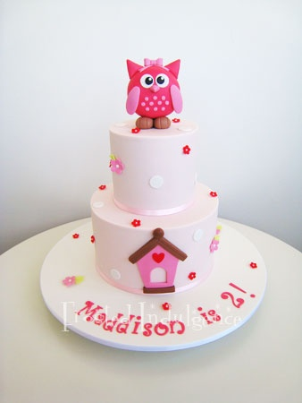 St Birthday Cakes Owl