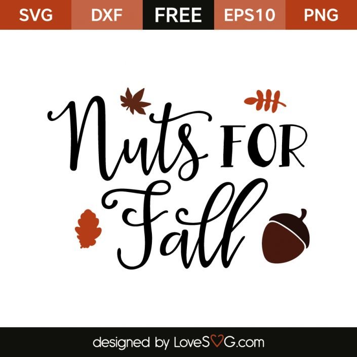 *** FREE SVG CUT FILE for Cricut, Silhouette and more *** Nuts for Fall