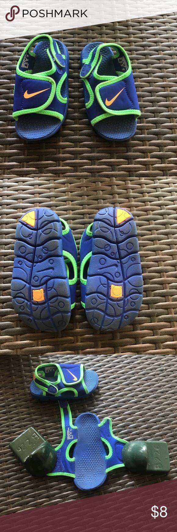 Gently used Nike baby sandals Gently used baby Velcro Sandler. Super easy to get off and on Nike  Shoes Water Shoes