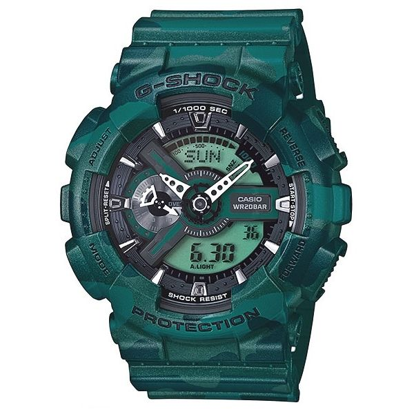 CASIO G-Shock GA-110CM-3A Orologio da Uomo Analogico-Digitale Camouflage #casio #gshock #military #digital #analog #wristwatch #camouflage