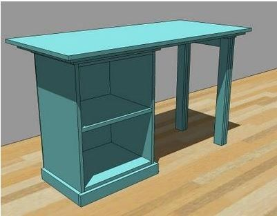 Smaller desk for the office.  Maybe build a shelf for the printer on the top??