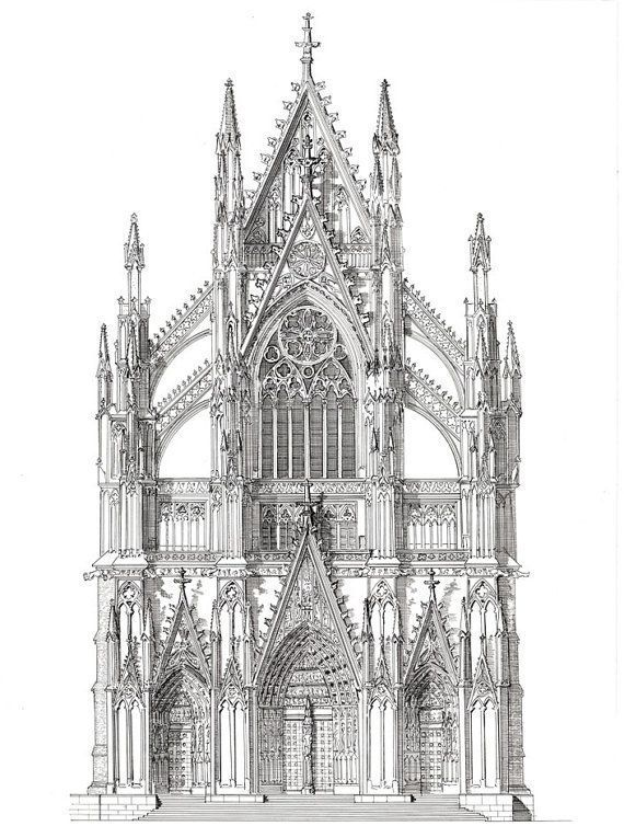 Related Items Such As The Portal Cologne Cathedral Northern Germany On Etsy In 2020 Gothische Architektur Gotische Architektur Zeichnung Gotik Architektur