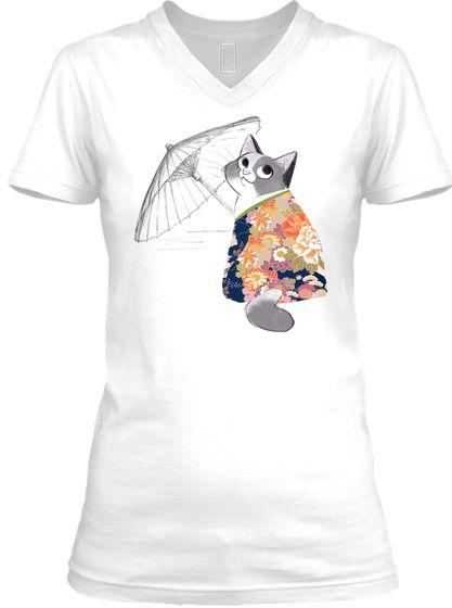 geisha cat T-shirt