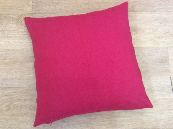 PINK LINEN plain cushion cover in Magenta, Fuchsia, Cerise Pink square cushion cover pillow sham in Romo LINARA union linen fabric-Petunia