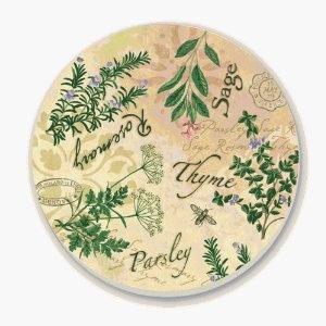 Counterart Italian Herbs Round Stone Trivet 6 Inch Kitchen Decorkitchen