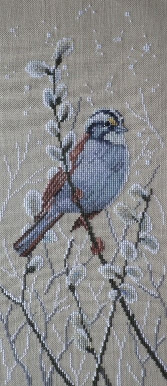 Fabulous stitchery, love the soft blues and greys.