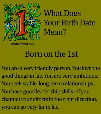 What Does Your Birth Date Mean?- Born on the 1st