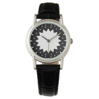 Star Black and White Watch