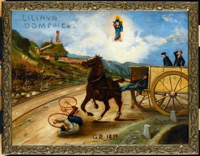 Anonyme, Peinture ex-voto, 1899, MUCEM
