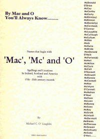 Irish Roots - Mac, Mc, and O Names in Ireland, Scotland, & America