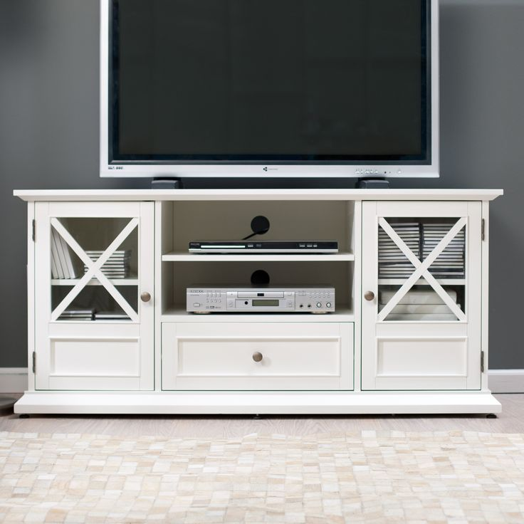 Belham Living Hampton TV Stand in White - TV Stands at Hayneedle | What are your thoughts on this one, Mariah?