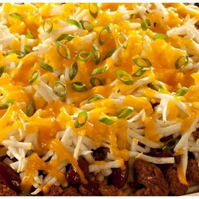Ore-Ida Taco Casserole Recipe. Top with some Absolutely Gluten Free Crackers for a crunch! www.absolutelygf.com  #AbsolutelyGF #Glutenfree #Casserole #Recipe