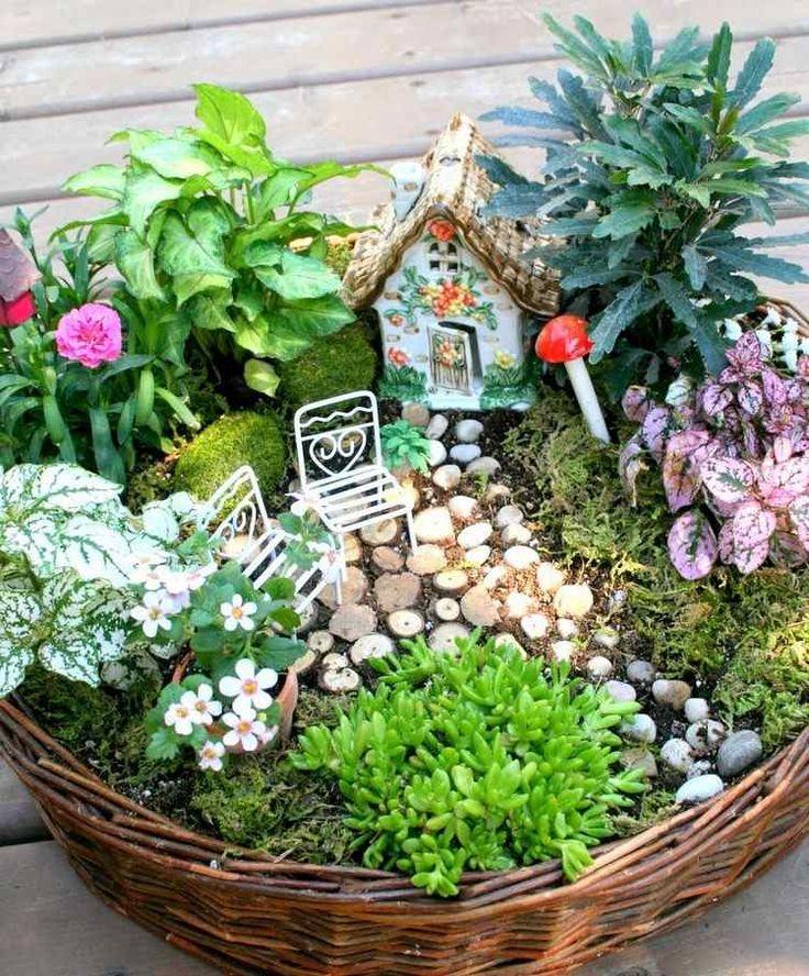 Die 25+ Besten Ideen Zu Mini Garten Auf Pinterest | Feengarten ... Garten Gestaltung Fruhling Sommer