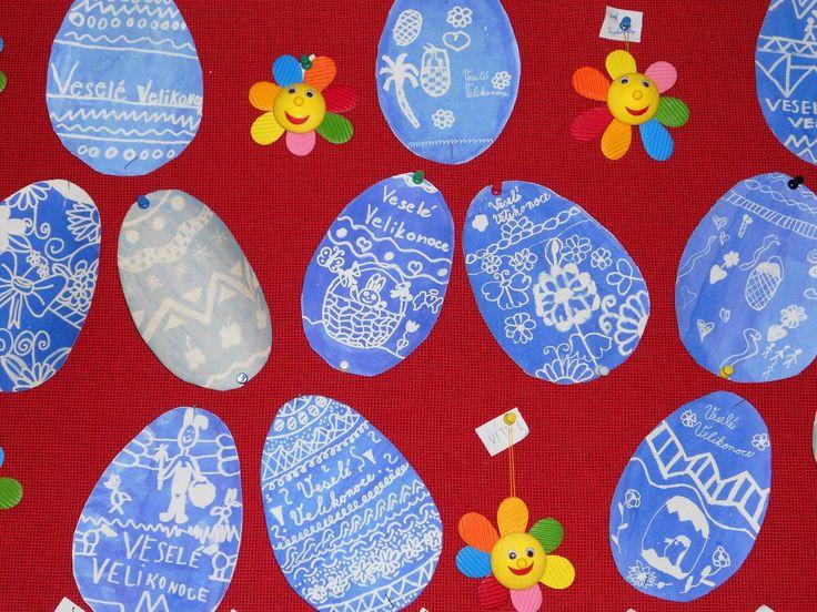 Velikonoční vejce - zmizík přes inkoust