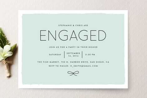 Knotted Engagement Party Invitations by Amber Barkley at minted.com