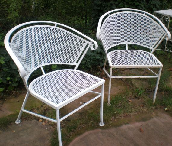 Vintage Salterini Patio Chairs Or Russel Woodard Chairs