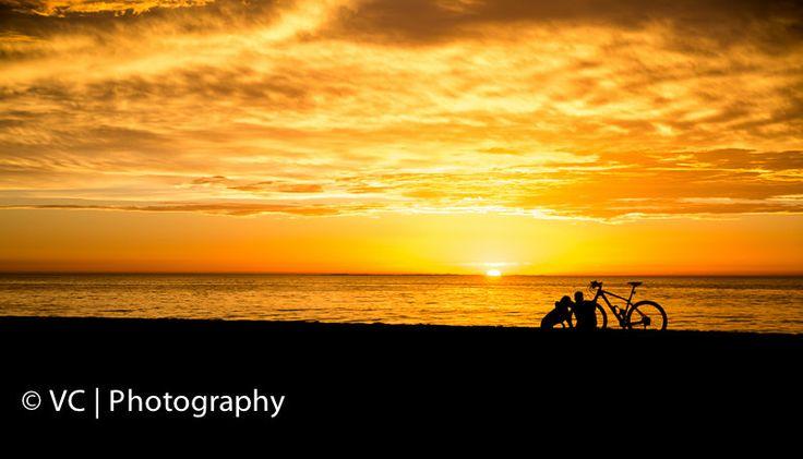 A man, a dog and a bike... City Beach