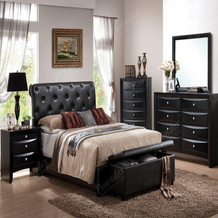 Black Leather Bedroom Set - Bedroom Sets for Master Bedroom Check more at http://maliceauxmerveilles.com/black-leather-bedroom-set/