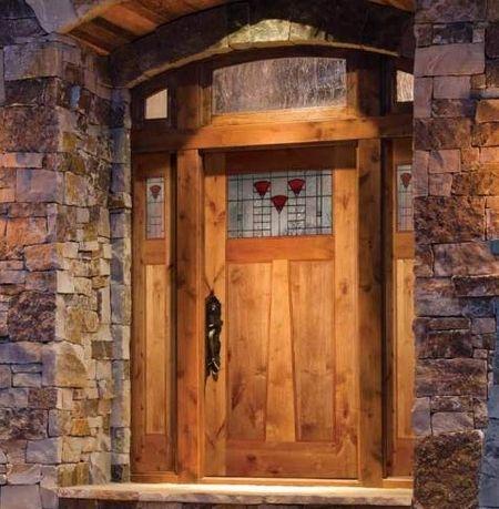 193 best other doors images on pinterest indoor gates interior simpson door knotty alder with trapezoidal muntin california poppy glass planetlyrics Images