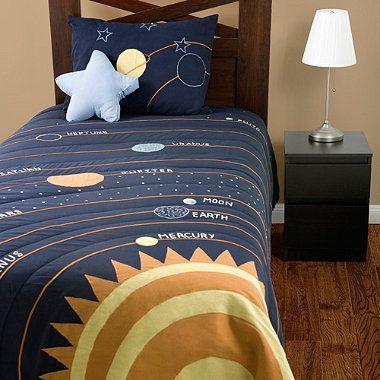 10 best images about boys bedding on pinterest quilt sets sharks and quilt - Solar system comforter set ...